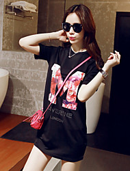 9030 summer new European style cotton good quality printed long dress loose T a grant