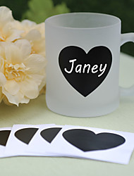 PVC Blackboard Stickers ---- Heart (set of 6)