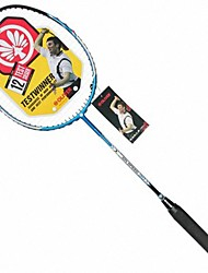 Men/Unisex/Women/Kids Badminton Rackets Low Windage/High Elasticity/Durable Blue 1 Piece Carbon Fiber