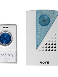 v001a Voye genérica inalámbrico de control remoto llevó puerta timbre de campana CPVC