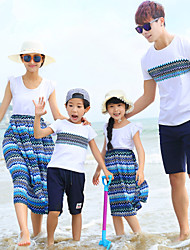 Ensembles de vêtements pour la famille Eté Sans Manches Coton Fin Micro-élastique