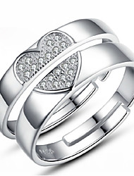 Love Story Women's Fashion 925 Silvering Ring(pair)