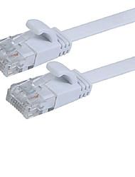 1m / 3 pés 6a J45 gato gato 6 UTP cabo de extensão plana remendo cabo de rede ethernet rj45