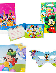 75pcs Mickey Baby Birthday Party Decorations Kids Evnent Party Supplies Party Decoration 18 People Use