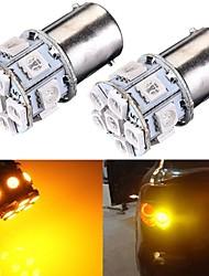 2 x P21W 382 1156 BA15S 5050 LED 13-SMD Tail Indicator Car Bulbs