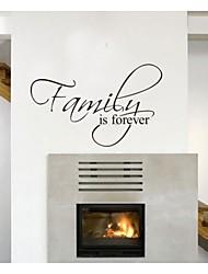 la famille est toujours stickers muraux décor à la maison de devis zooyoo8068 décoratifs vinyle amovible stickers muraux
