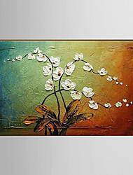 Handgemalte Landschaft / Stillleben / Blumenmuster/BotanischModern Ein Panel Leinwand Hang-Ölgemälde For Haus Dekoration