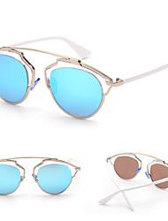 100% UV400 Women's Cat-Eye Alloy Retro Sunglasses