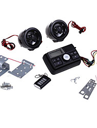 Motorcycle Motorbike Audio System MP3 Speaker Amplifier FM/SD/MMC Black