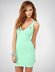 Cocktail Party Dress - Clover Petite Sheath/Column High Neck / Spaghetti Straps Short/Mini Rayon