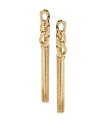 Pendientes colgantes Chapado en Oro Legierung Moda Dorado Joyas 2 piezas