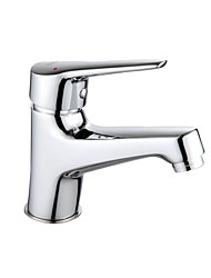tode Messing gegossen l einzigen Handgriff Waschbecken Wasserhahn - Silber