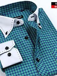 taille plus occasionnels de chemises pour hommes mode russie sociale shirt masculin de la marque chemises d'homme de 2015 de camisa XXXL
