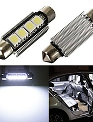 2 x Car Dome 5050 SMD LED Canbus Bulb Light Interior Festoon Led 42MM