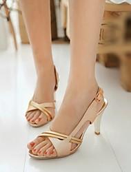 Women's Shoes Stiletto Heel Open Toe/Slingback/Ankle Strap/Sandals Dress Gold/Silver/Blue