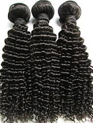 """1 porción de las PC 14 """"rizado rizado armadura del pelo humano negro natural de precios brasileña virginal del pelo barato"""