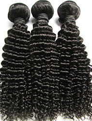"1 Pcs Lot 14"" Brazilian Virgin Hair Natural Black Kinky Curly Human Hair Weave Cheap price"