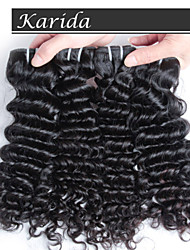 4 pcs/ lot Raw Unprocessed Virgin Indian Hair,  Deep Wave Unprocessed Virgin Indian Remy Hair