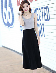 Ya Zhe Women'S Modal Stitching Was Thin Dress Skirt Big Skirt Jumpsuit