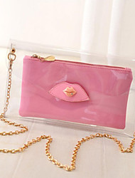 Women Casual PVC Button Shoulder Bags/Clutches/Evening Bags