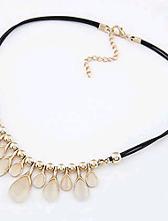 New Arrival Fashional High Quality Created Opal Water Drop Necklace