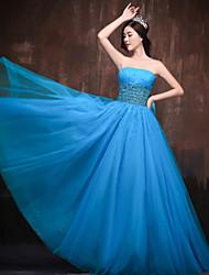 Dress Ball Gown Strapless Floor-length Satin/Tulle/Stretch Satin Dress