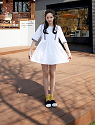 Maternity Casual Loose Half Sleeve Cute Linen Dress