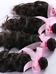 "4 Pcs/Lot 8""-26"" Brazilian Virgin Hair Natural Black Natural Curve hair Weft Direct Manufacturer"