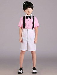Ring Bearer Suit Cotton 4 Pieces Suit