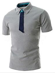 Informeel Shirt Kraag - MEN - T-shirts ( Katoenmengeling )met Korte Mouw