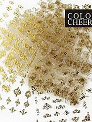 24PCS Mix Gold Sticker Nail Art Nail Decorations