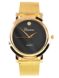 Simple Metal indicator dial And Stainless Steel Band Men Watch(Gold)(1Pcs) Cool Watch Unique Watch