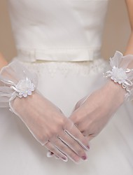 Net/Tulle Wrist Length Wedding/Party Glove