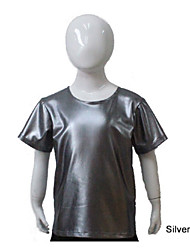 Silver Gray Short Sleeve Dance T-shirt More Colors for Boys and Men Kids Dance Costumes