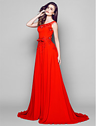 Formal Evening Dress - Ruby A-line Court Train Nylon Taffeta