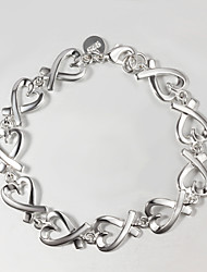 Casual Silver Plated Charm Bracelet Indian Bangles Bracelets Jewelry Tous