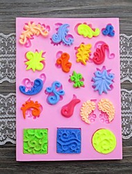 Emboss Shaped  Fondant Cake Chocolate Silicone Mold Decoration Tools