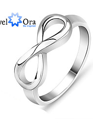 Genuine 925 Brand  Knot Ring Sterling Silver S925 Stamped Silver Infinity Ring