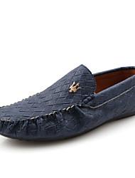 Mocasines Mocasines & ( Cuero Patentado , Negro/Azul/Rojo/Blanco Tacón plano para Zapatos de hombre
