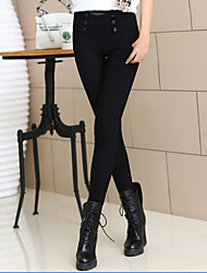 Women's Solid Black Skinny Pants