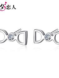 Double D Butterfly Festival Korea Female 925 All-match Earrings Sterling Silver Earrings are Diamond Earrings