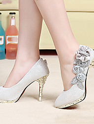 Zapatos de mujer Sintético Tacón Stiletto Tacones/Plataforma/Punta Redonda Pumps/Tacones Boda/Vestido Rojo/Plata/Oro