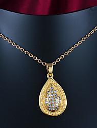 festa de venda quente / ouro ocasional colar de pingente banhado presente para os amantes