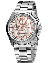 bosei alto grau de aço inoxidável relógio de quartzo negócios