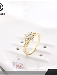 Statement Rings Zircon Cubic Zirconia Gold Plated Rose Gold Plated Simulated Diamond Fashion Gold Jewelry Wedding Party 1pc