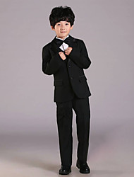 First Communion Ring Bearer Suit Black Polester/Cotton Blend 5 Suit Bearer Dressy Suits