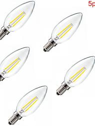 5 ед. HRY E14 2 W X 200 LM К Тёплый белый/Холодный белый CA Декоративная LED лампа накаливания AC 85-265 V