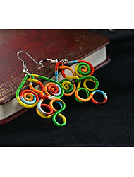 European and American Famous Brand Ethnic Jewelry Chinese Green Color Cotton Thread Earring