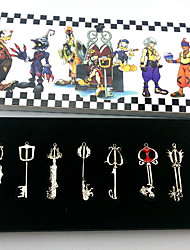 Kingdom Hearts Sora Key Pendant 8 Piece Suit Cosplay Necklace
