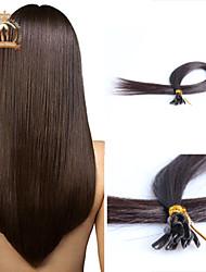 "20""inch U Tip Brazilian Virgin Hair Straight Human Hair Color Natural Black"